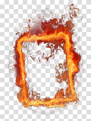 Fogo, quadro de fogo, caixa de chamas PNG clipart