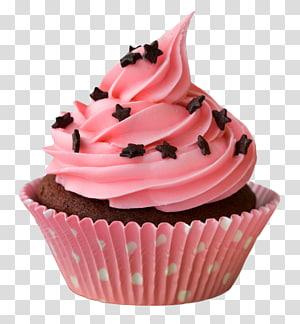 Cupcake Glacê Manteiga de amendoim cup Bolo de veludo vermelho, Cupcake, cupcake png