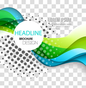 Linhas de curva dinâmica moda material de fundo, do logotipo de design de brochura de manchete com fundo azul png