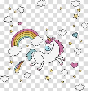 unicórnio com arco-íris, unicórnio desenho ilustração, unicórnio correndo feliz PNG clipart