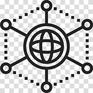 arte do logotipo preto em forma de esfera, design de ícone do computador ícones Blockchain, blockchain png