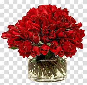 Rose Vase Red, rosas vermelhas em vaso, arranjo de flores de rosa vermelha em vaso de vidro transparente PNG clipart