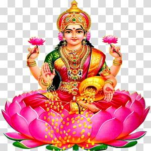 Ilustração de divindade hindu, Lakshmi Devi riqueza deusa Vishnu, Lakshmi PNG clipart
