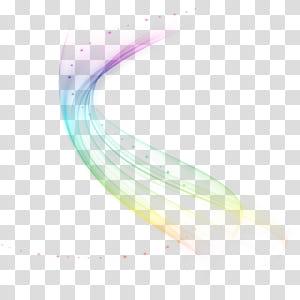 Iluminação, efeito de luz dinâmico mágico de sonho, arco-íris PNG clipart