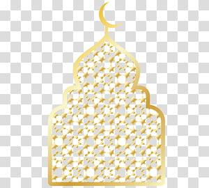 ilustração da mesquita, mesquita árabe Eid al-Fitr, Chancelaria dourada da mesquita árabe PNG clipart