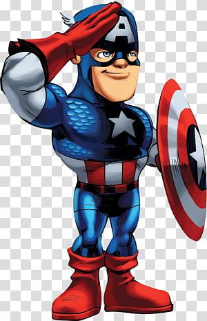 Ilustração do Capitão América, Marvel Super Hero Squad Online Capitão América Carol Danvers Thor, capitão América png