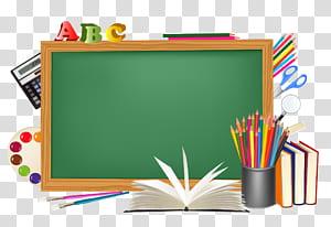 Conselho escolar do estudante Distrito escolar, Conselho escolar verde e decorações, quadro-negro com ilustração de caneta PNG clipart