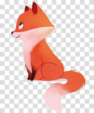 raposa, raposa vermelha desenho Pintura em aquarela ilustração, raposa png