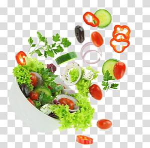 ilustração de salada, salada grega Salada Caesar Vegetal, Uma fruta e vegetal PNG clipart