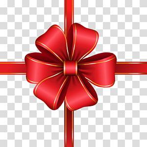 ilustração de laço vermelho e dourado, linha, laço vermelho decorativo png