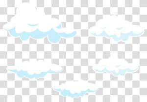 Céu linha ponto padrão, Cartoon nuvens conjunto, ilustração de nuvens brancas PNG clipart