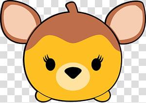 ilustração animal amarela e marrom, Disney Tsum Tsum Minnie Mouse Bambi Mickey Mouse Pato Donald, tsum tsum PNG clipart