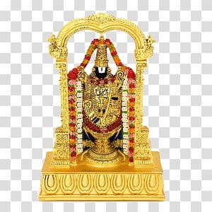 altar floral vermelho, laranja e branco dourado, Krishna Temple Ganesha Ugadi Deity, Venkateswara PNG clipart