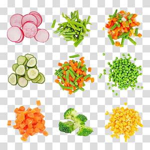 ilustração de lote de legumes em fatias, cenoura cozinha vegetariana cebola de legumes, legumes picados PNG clipart