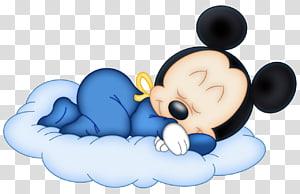 Mickey Mouse Minnie Mouse, bebê Mouse, Mickey Mouse dormindo no ícone da nuvem PNG clipart