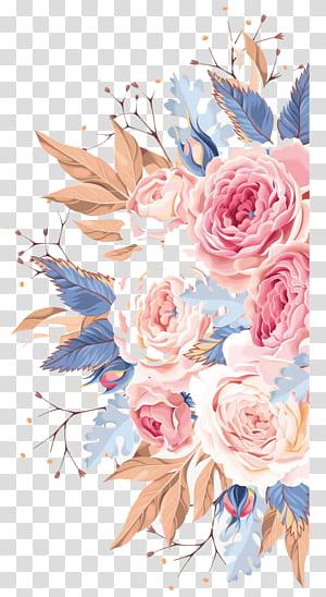 Convite de casamento Pintura em aquarela Flor, Flores em aquarela, ilustração de flores multicoloridas PNG clipart
