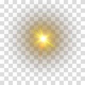 Animação computador padrão, efeito de luz, luminária amarela png