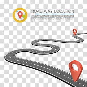 localização estrada maneira, ilustração estrada, marcos estrada png