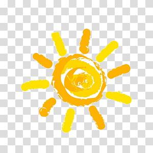 Sol, sol, ilustração de sol amarelo PNG clipart