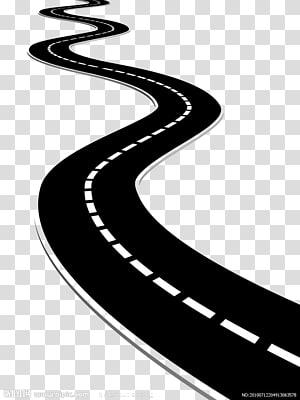 Destiny Road Illustration, estrada, ilustração de estrada png