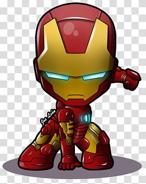 Iron Man Chibi Superhero Marvel Comics, ferro, Ironman chibi ilustração png