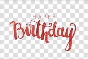 Fonte de caligrafia de aniversário, feliz aniversário Caligrafia, feliz aniversário png