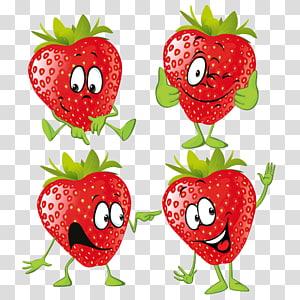 Ilustração de fruta morango dos desenhos animados, morango png