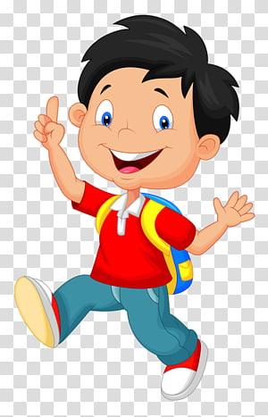 Escola de desenho animado, criança de desenho animado PNG clipart