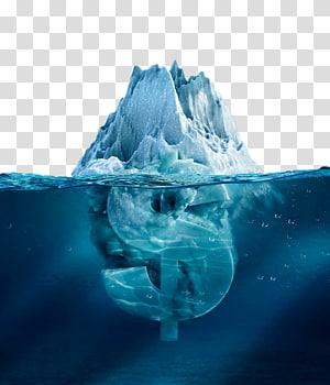 Iceberg, símbolo de moeda Creative Iceberg PNG clipart