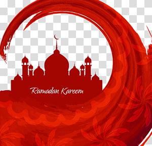 ilustração de mesquita vermelha, arte islâmica Mesquita Muçulmana Deus, Ramadã vermelho PNG clipart