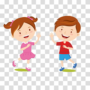 Roupas infantis vestido Jeans, crianças dos desenhos animados bem-vindos, menino anúncio menina levantando os braços ilustração png