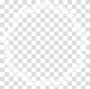 ilustração de bainha têxtil em branco e preto, linha simetria preto e branco padrão de ponto, armação de borda de renda redonda PNG clipart