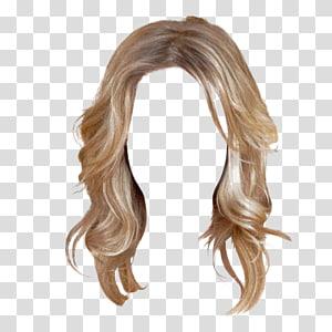Penteado peruca Barrette, fundo de cabelo de mulheres, cabelo loiro de mulher PNG clipart