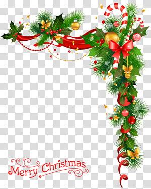 verde Natal, decoração de Natal Árvore de Natal, guirlanda de Natal com sinos png
