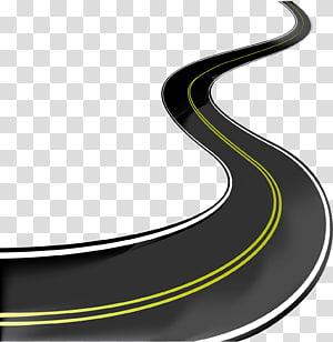 ilustração da estrada, estrada asfalto concreto, estrada png
