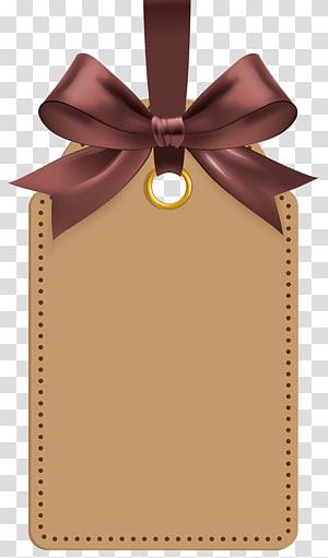 Etiqueta, etiqueta com modelo de laço marrom, ilustração de etiqueta de etiqueta marrom png