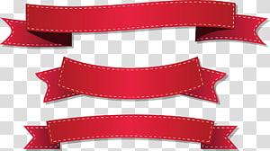 três fitas vermelhas, ilustração de fita ilustração, fita vermelha png