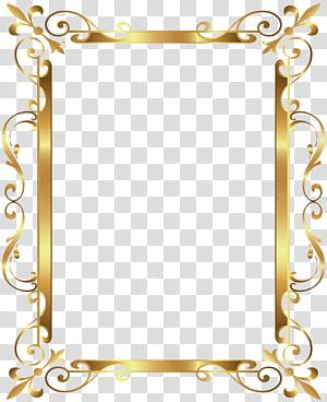 Moldura de ouro, moldura de borda de ouro Deco, moldura de ouro png