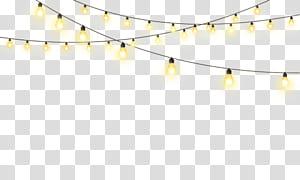 Estrela da iluminação, luzes criativas gratuitas da corda da tração iluminação, luzes da corda PNG clipart