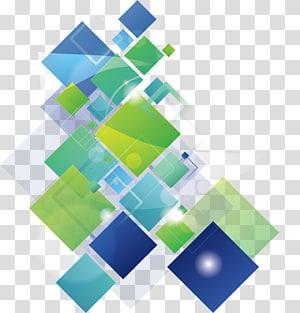 Banner, moda quadrados coloridos fundo, quadrado verde e azul PNG clipart