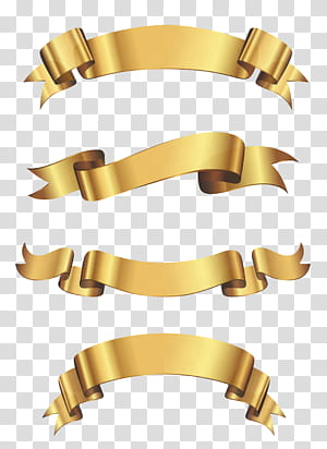 Banners de vinil Adesivo Fita publicitária, Conjunto de faixa dourada, quatro fitas de ouro png