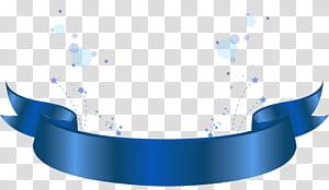 Azul padrão, azul Banner elemento decorativo, fita azul ilustração PNG clipart
