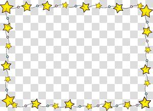 ilustração de estrelas amarelas, fronteira de estrelas PNG clipart
