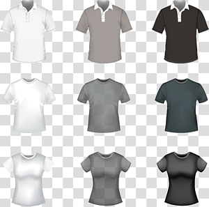 ilustração de camisas de cores sortidas, camiseta polo, modelo de camiseta PNG clipart