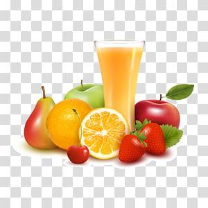 lote de frutas, suco de laranja suco de maçã frutas, material de frutas frescas e suco de laranja png