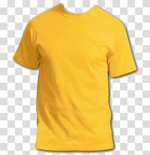 ilustração de camiseta de gola amarela, camiseta estampada com capuz, camiseta s PNG clipart
