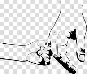 mão de criança segurando a ilustração de mão adulta, dia dos pais dia das mães dia das crianças, grandes mãos segurando as mãozinhas pintadas png