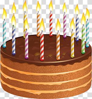 bolo de chocolate com velas, bolo de aniversário bolo de chocolate, bolo de chocolate com velas png