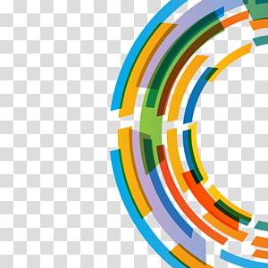painel redondo, curva da bandeira do arco-íris, fundo abstrato colorido PNG clipart
