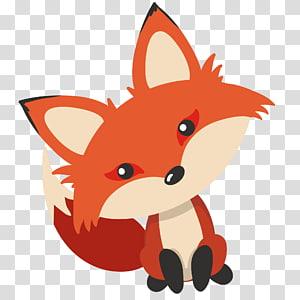 ilustração de raposa, colônia de Prince Edward Island Fox News, adorável cabeça torta raposa png